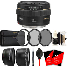 Canon EF 50mm f/1.4 USM Lens + Filter Accessory Kit for Canon 7D 600D