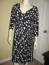 White House Black Market Women's Multi-Color Print Dolman Sleeve Dress Size 8