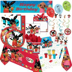 Bing Rabbit Party Tableware, Decorations and Balloons