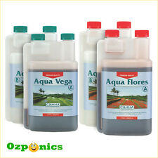 CANNA 1L NUTRIENTS AQUA VEGA FLORES RECIRCULATION SYSTEM HYDROPONICS KIT