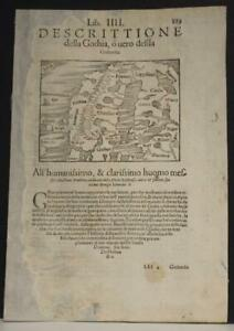 SCANDINAVIAN PENINSULA 1554 MÜNSTER SCARCE ANTIQUE WOODCUT MAP ITALIAN EDITION