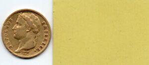 Pièce 20 Francs OR Napoléon 1er - 1808 A - République
