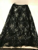 MOTEL ROCKS Tauri Skirt in Eyelash Lace Black    (MR4)