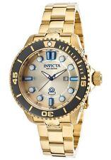 Invicta Women's 19824 Pro Diver Quartz 3 Hand Gold Dial Watch, UPC 490260216608