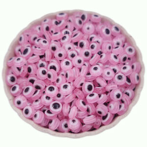20/40/50Pcs Cat Eye Gemstone Loose Beads DIY For Jewelry Making Candy Color