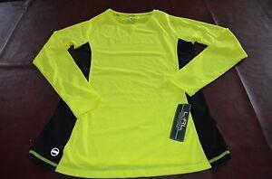 NWT MSRP$59 Womens Lauren Active Ralph Lauren Shirt Bright Yellow LARGE Yoga Run