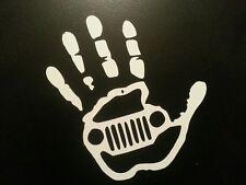 JEEP DIRTY HAND DECAL **  CJ-7 CJ-5 YJ TJ JK  WRANGLER SAHARA  SCRAMBLER CJ-8
