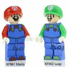 LOT FIGURINE SUPER MARIO ET LUIGI MINIFIGURE NO LEGO NINTENDO MINIFIG JEU ENFANT