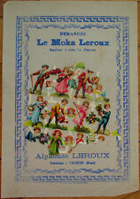 Victorian Diecut Scrap 1890s on Large 10x7 Chicoree Advertising-People Gardening