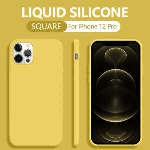Liquid Silicone Case For iPhone 12 11 Pro Max Mini XR XS 6s 7 8 Plus SE 2 Cover