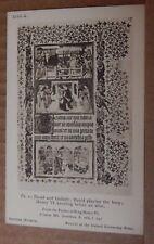 Postcard British Museum Colection Henry Vi Psalter David & Goliath unposted