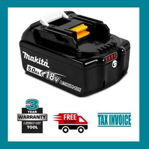 Genuine Makita BL1850B-L 18V 5.0Ah Li-ion Cordless Battery - 2 Years Warranty