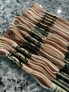 DMC Embroidery Floss Color Art 117 #105 Variegated Tan/Brown Lot Of 12