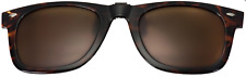 Waycool Flip Up Sunglasses Clip On Polarized Brown 50mm Wide 40mm High Warby