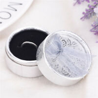Lace Bow Tie Round Paper Velveteen Cardboard Ring Box Jewelry Accessories PY