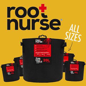 ROOT NURSE Fabric Plant Pot Breathable Pots Hydroponics Container Grow Bag Litre