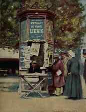 A4 Photo Menpes Mortimer 1855 1938 World Pictures 1902 Newspaper stand Print Pos