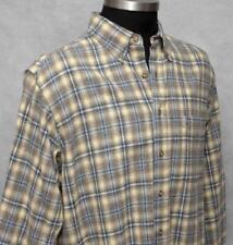 Men's Pendleton 100% Wool Shirt Sz L Brown/Blue/Black Plaid Button Down Collar