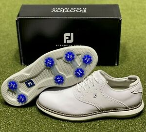 FootJoy 2021 Traditions Golf Shoes 57903 White 10 Wide (2E) New in Box #85698