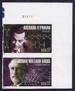 "3907 & 3909d - Rare Imperf Error Pair ""American Scientists"" Mint NH"
