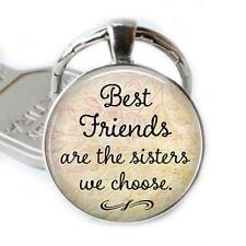 Best Friend Keychain Keyring Best Friends are the Sisters We Choose Friend Gift