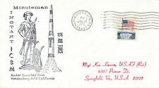 SPACE COVER MINUTEMAN ICBM LAUCH ROCKET SHUTTLE  NASA SATELLITE ORBIT