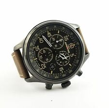 Timex T49905 Men's Expedition   Brown Leather Strap Field Chronograph Watch -NEW