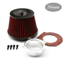 Universal Power Intake Air Filter 75mm Dual Funnel Adapter sports CAR