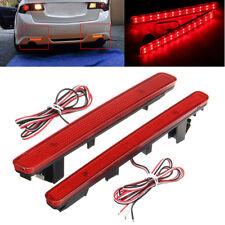 2x Rear Bumper Reflector LED Tail Stop Brake Light For 09-14 Acura TSX Sedan