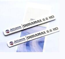 2x OEM ALLISON DURAMAX 6.6 HD VORTEC Hood EMBLEMS BADGES GM 2500HD 3500HD YU