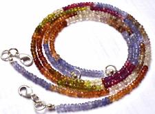"1 STAND Natural Multi color Garnet Faceted Rondelle Beads NECK 3 -3.5 MM 15.5"""