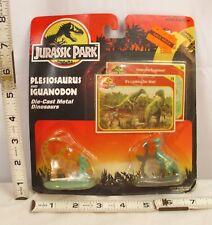 KENNER JURASSIC PARK 1993 PLESIOSAURUS & IGUANODON METAL DINOSAUR FIGURES