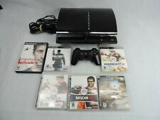 Sony Playstation 3 80GB CECHE01 Backwards Compatible Lot With Games Tested