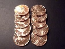 New listing Copper Bullion Round-Maple Leaf Design- Lot Of 10 -1 Ounce- .999 Copper- 1 Oz.-