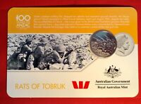 2016 Anzac To Afghanistan 20 Cent Australian Coin Carded Unc. Rats Of Tobruk