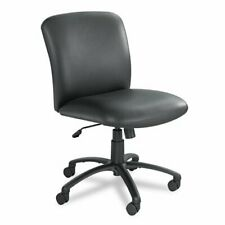 Safco Uber Big And Tall Mid Back Management Chair Vinyl Black Seat Back