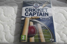 INTERNATIONAL CRICKET CAPTAIN 2010 PC CD-ROM FAST POST ( brand new & sealed )