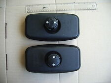 "2 x Slim Wide Angle 'E' Mirror 8½"" x 4½"" blind spot Canter Truck Fit 10-20mm Arm"