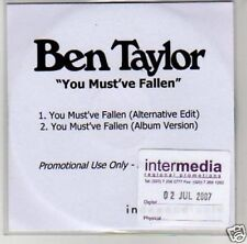 (B770) Ben Taylor, You Must've Fallen - DJ CD