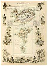 Iceland geysers Hekla Faroe Islands illustrated map Fullarton ca.1872