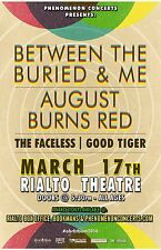 BETWEEN THE BURIED & ME / AUGUST BURNS RED 2016 TUCSON CONCERT TOUR POSTER
