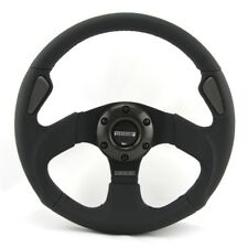 Momo Leather Perforated Sports Steering Wheel Jet 320mm Black Ring From