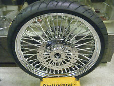 """Chrome 23"""" Mammoth Fat Spoke 23x3.5"""" Front Wheel Package 00 - 07 Harley Touring"""