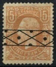 Belgium 1869-78 SG#57, 5f Yellow-Brown Roller Cancel Used Cat £1900 #D74411