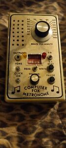 """VINTAGE FOX COMPUTDR METRONOME, NOT TESTED. NEEDS NEW BATTERIES. 3 1/2"""" X 6""""."""
