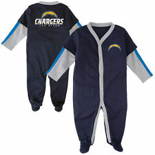 San Diego Chargers NFL Newborn Long Sleeve Jersey Coverall Sleeper Size 0-3