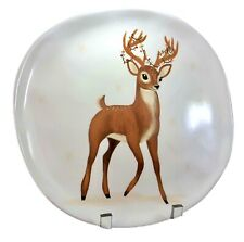 "Target Threshold Melamine Reindeer 11"" Dinner Plate Christmas 2017 Holiday Deer"