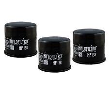 Oil Filter 3-Pack for SUZUKI 2001-15 GSX-R 1000 GSXR1000 HF138