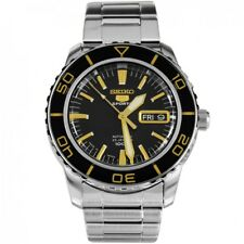 SEIKO 5 SNZH57 AUTOMATIC WATCH Black Dial Stainless Steel Brand New SNZH57K1