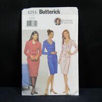 Sin cortar Vintage Butterick patrón de costura 6529 Vestido De Fiesta Formal 6-22 FF Oop